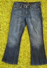 NEW 7 for all Mankind Flare Denim Jeans W32 L27 Fade Distress Made in USA