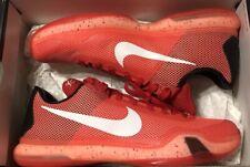 Nike Kobe Bryant X 10 Mens Size 10.5 Red Crimson Major Mamba Hot Lava
