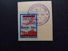 Stamp Poland Polska Poczta Polowa Polish Field Post Office Postal Seal 1942