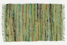 Sturbridge 4' x 6' Rag Rug in Sage Green, Hand Woven, 100% Cotton