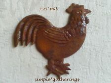 "12 ~ 2.25"" TALL ~ Rusty Tin ROOSTER Cutouts, Primitive Rustic, Garden Nature"