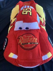 Disney Pixar Cars Lightning McQueen Plush Doll 15.5 Inches With zipper Storage