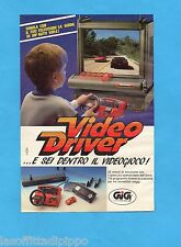 TOP989-PUBBLICITA'/ADVERTISING-1989- GIG - VIDEO DRIVER