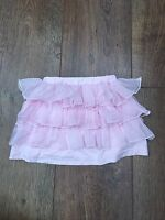 BABY GIRLS 12-18 M BABY PINK FRILL SKIRT SUMMER/HOLIDAY/BEACH/SMART/PARTY NEW