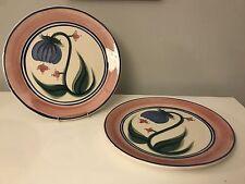Lot of 2 Gail Pittman Novak Dinner Plates Rare Signed HTF