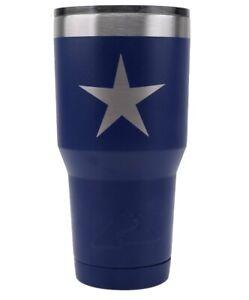 TWO Heavy Texas STAR Steel Silver STAR Cowboys Star Powder Coated 30oz NEW