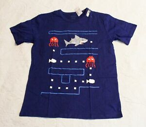 The Children's Place Boy's S/S Video Game Shark Graphic T-Shirt SV3 Blue Size XL