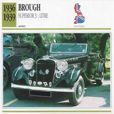 1936-1939 BROUGH Superior 3.5-Litre Sports Classic Car Photo/Info Maxi Card