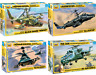 ZVEZDA Russian Modern Military Helicopters Plastic Model Kits 1:72 Unpainted