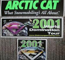 Rare Arctic Cat Blair Morgan Original Race Snowmobile Decals Sticker Vintage NOS