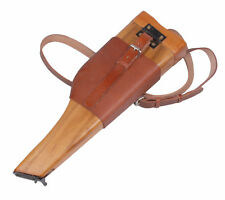 Men's WW2 German Mauser Broomhandle Leather Holster And Wood Stock