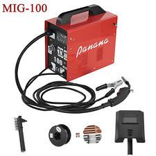Professional MIG Welder 100 amp No Gas Gasless Flux Welding Machine Complete Kit