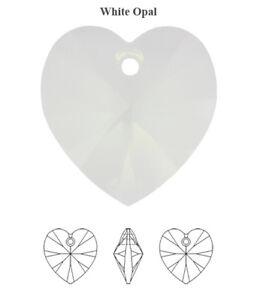 Genuine SWAROVSKI 6228 XILION Heart Crystals Pendants * Many Colors & Sizes