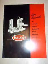 Vtg Bullard Co Catalog~Boring Machine Accessories/Table