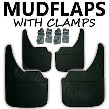 MUDFLAPS PEUGEOT 306 Full Pack Mud Flaps +clamps BLACK