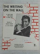 Sheet Music - The Writing On The Wall - Adam Wade 1961 *Rare*