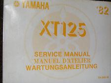 Manual De Servicio Yamaha XT125 1982