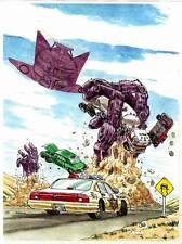 ALIENS ATTACK science fiction original art drawn by Mahlon Fawcett