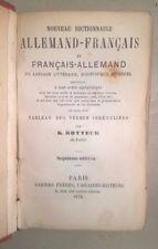 NOUVEAU DICTIONNAIRE ALLEMAND FRANCAIS ROTTECK 1876