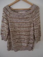 Cotton Blend Crewneck Striped Regular Jumpers & Cardigans for Women