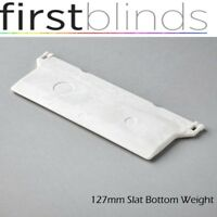 127mm / 5inch Vertical Blind Bottom Weights Spares, Parts, Replacement White