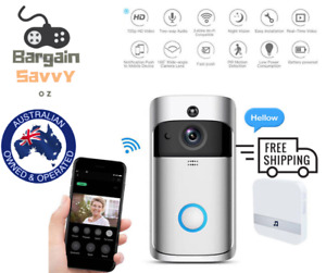 Smart WIFI Video Doorbell Intercom 1080P 3x Battery Chime Two-way Talk HD
