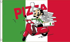 5' x 3' Pizza Flag Take Away Shop Italian Italy Fast Food Delivery Van Banner