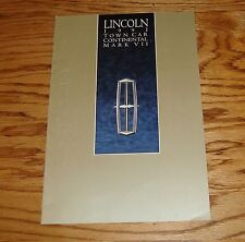 Original 1991 Lincoln Full Line Sales Brochure 91 Mark VII Continental Town Car