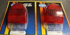 71-72 VW super beetle bug stock style tail light lens red white, left & right