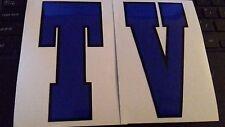 LAMBRETTA TV Blu LEGSHIELD CLERICI stile Grafico Decalcomanie anni'60