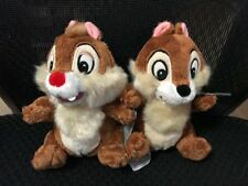 "DISNEY Chip & Dale Plush Mini Bean Bags 71/2"" Very Cute VHTF ~ NEW ~ Ships Fast"