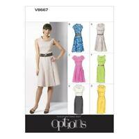 Vogue Sewing Pattern V8667 Women's Petite Dress