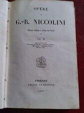 "G.B: Niccolini ""Opere"""