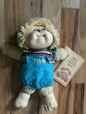 Vintage 1983 COLECO Cabbage Patch Kids KOOSAS Cat w/ Blue Overall Pants & Papers