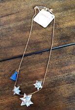 J.Crew Crewcuts Girls Little Star Charm Necklace Silver Tone