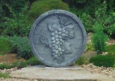Wandrelief Weinfass groß Garten Deko Frost und Wetterfest Steinguss