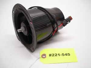 "NASCAR HIGH FLOW BRUSHLESS INLINE CARBON FIBER HIGH FLOW BRAKE FAN 3"" x 3.80"" 45"
