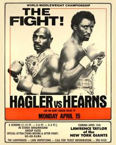1985 TOMMY HEARNS vs MARVELOUS MARVIN HAGLER 8x10 Photo Glossy Poster Print