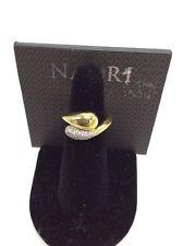 $60 Nadri Gold tone pave ring size N301
