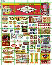 5073 DAVE'S DECALS HO RC MOON PIE SOUTHERN DINER CAFE SET HARDWARE BREAD COLA