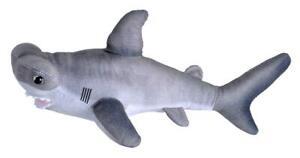 LIVING OCEAN MINI HAMMERHEAD SHARK PLUSH TOY 30CM STUFFED ANIMAL WILD REPUBLIC
