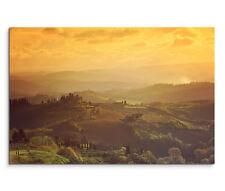 120x80cm Leinwandbild auf Keilrahmen Sonnenaufgang Landschaft Toskana Italien