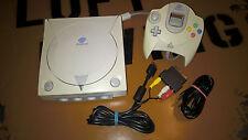# Sega Dreamcast consola + controlador + TV - & cables de alimentación-fácil decolorar #