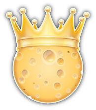 Cheese Golden Crown Car Bumper Sticker Decal 4'' x 5''