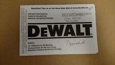 "DeWalt D28754 12"" 305mm Cut Off Machine Instruction Manual"