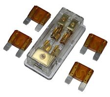 FREE 4PCS 40A FUSE MAXI Fuse holder 3 X 4GA IN 2X 8GA OUT GOLD PLATED