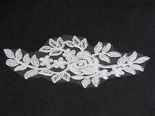 Apliques de Encaje Floral Blanco/vestido vintage de encaje Adorno es para la venta Vendido Por Pieza