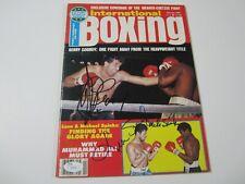 Gerry Cooney Michael & Leon Spinks signed International boxing magazine JSA COA