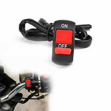 """Motorcycle Headlight Light Switch For 7/8"""" Handlebar ON/OFF Button Connector 12V"""