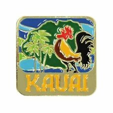 Islander Hawaiian Lapel Hat Pin Kauai Rooster Blue Gold